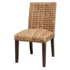 "Molokai Dining Chair   Molokai Dining Chair  Abaca  18"" W x 23"" D x 35"" H  Finish/Color(s): Natural/Salak Brown"