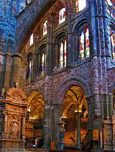 Inside Avila Cathedral