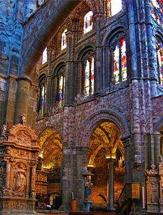 Inside Avila Cathedral