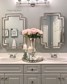 Blue And White Bathroom Accessories Pink Bathroom Accessories, Pink Bathroom Decor, Glamorous Bathroom, Purple Bathrooms, Silver Bathroom, Bathroom Interior Design, Small Bathroom, Modern Bathroom, Bathroom Ideas