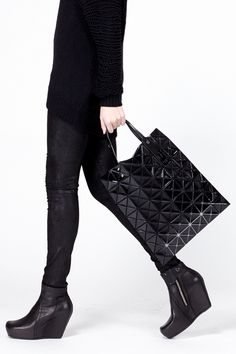 Bao Bao by Issey Miyake Large Lucent Tote (Black)