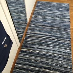 Your place to buy and sell all things handmade Floor Runners, Recycled Denim, Floor Rugs, Loom, Blue Jeans, Hand Weaving, Recycling, My Etsy Shop, Flooring