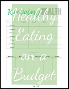 All the tools you need to know in order to eat healthy and stick to your budget. Free download printable for your convenience! - Kraving Health