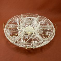 EAPC Star of David Lazy Susan Anchor Hocking Glass Vtg. $45.00, via Etsy.