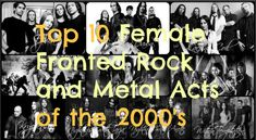 Top 10 Female Fronted Rock and Metal Acts of the 2000's #lizzyhale #anetteolzon #taylormomsen #avrillavigne #laceysturm #simonesimons #lilyvsixx #rockrageradio #loulombardimusic #loudinirockandrollcircus
