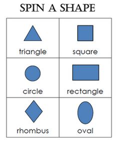 Worksheets Shape Name 2d shape pattern block challenge cards and challenges one of the games i made to help my students learn shapes is called spin
