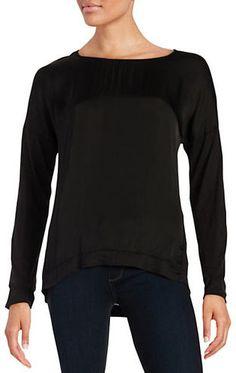 Velvet By Graham And Spencer Long-Sleeved Jersey Top