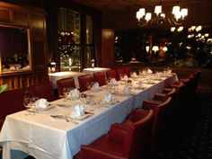 Empire Table Drake Hotel, Club International, Empire, Table Settings, Place Settings, Tablescapes
