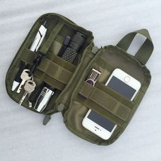 Outdoor Tactical Waist Solid Sports Hunting Pack Belt Bag EDC Camping Hiking Phone Pouch Wallet.