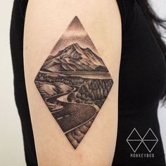 Winding Road Landscape Tattoo by Won