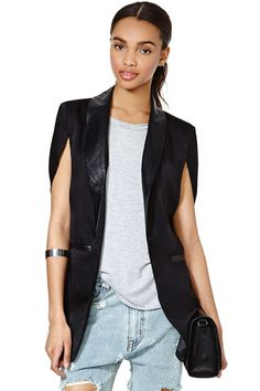 Boss Babe Cape Blazer | Shop What's New at Nasty Gal