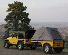 Jeep Wrangler Off Road Camper Trailers and Jeep Campers by Tentrax. if i ever get my jeep. Jeep Wrangler Tj, Jeep Jk, Jeep Wrangler Unlimited, Jeep Truck, Auto Jeep, Jeep Camping, Jeep Tent, Jeep Wrangler Accessories, Jeep Accessories