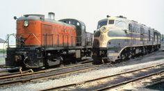 New Haven Railroad DER- 1b ALCO DL-109 locomotive # 0740, plus another DL-109 locomotive, & DERS- 2b ALCO RS-2 locomotive # 0513, Mac Seabree Collection