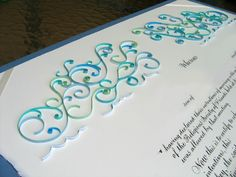 Quilled Quaker marriage certificate by all things paper, via Flickr