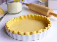 This is the one pie crust recipe you absolutely need! This Easy Vodka Pie Crust is so easy to work with and bakes up flakey. Vodka Pie Crust, Lard Pie Crust, Food Processor Pie Crust, Food Processor Recipes, Just Desserts, Delicious Desserts, Yummy Food, Pie Dessert, Dessert Recipes