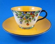 Art Deco Crown Staffordshire hand painted florals.