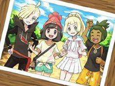 THIS PICTURE IS AMAZING I LOVE ALL THE CHARACTERS AND  THEY GOT GLADION TO SMILE FOR IT!!