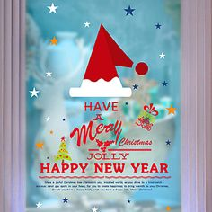 Christmas Home Decor Wall Stickers Funny Party Kids Gift Sticker Shop Store Window 5351495 2016 – $8.99