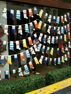 Socks as nautical flags