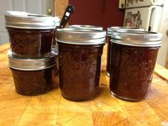 Balsamic tomato jam. Great for burgers instead of ketchup!