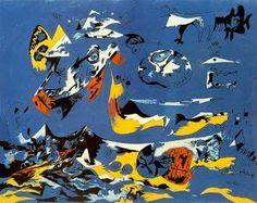 Jackson Pollok (1956) Es el pionero del expresionismo abstracto, usaba técnicas como el 'splashing' o el 'dipping' pero jamás uso bocetos.