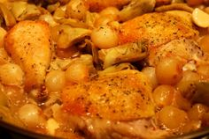 DELICIOUS: Braised Chicken Legs with Artichokes and Pearl Onions | Award-Winning Paleo Recipes | Nom Nom Paleo: http://nomnompaleo.com/post/2938524906/braised-chicken-legs-with-artichokes-and-pearl-onions