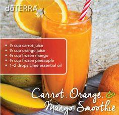 doTERRA Carrot Orange Mango Smoothie Recipe