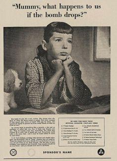 1954-Civil Defense poster - What happens if the bomb drops?