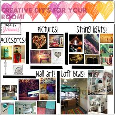 """""""Creative DIY's for your room!"""" by the-hipster-tipsters on Polyvore"""