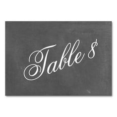 Shop Chalkboard Inspired Wedding Table Number created by JillsPaperie. Personalize it with photos & text or purchase as is! Card Table Wedding, Wedding Table Numbers, Cool Numbers, Chalkboard Wedding, Table Names, Shopping Sites, Diamond Are A Girls Best Friend, Wedding Inspiration, Wedding Ideas