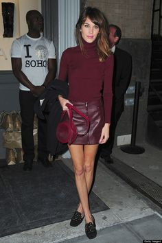 Alexa Chung. i like this but i would wear different shoes