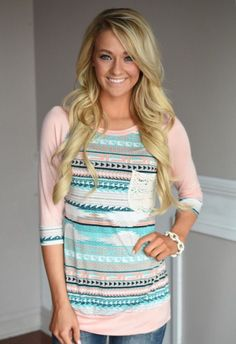 Spring into Peach Top – The Pulse Boutique I love that shirt so much!!!