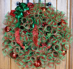 - 22 inch Red/Green Christmas Wreath for $55 - 26 inch Red/Green Christmas Wreath for $70 - 30 inch Red/Green Christmas Wreath for $85 CUSTOM COLORS AND STYLES AVAILABLE UPON REQUEST.