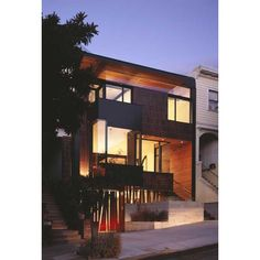 Love the night shot of this Cole Valley Residence by Addison Strong Design Studio!