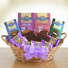 Ghirardelli Chocolate Heaven Gift Basket - With Love Home Decor