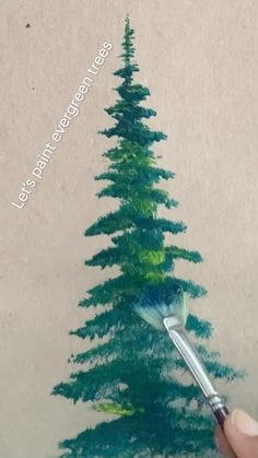 Canvas Painting Tutorials, Watercolor Painting Techniques, Diy Painting, Watercolor Art, Acrylic Tutorials, Painting Trees, Watercolor Tutorials, Acrylic Paintings, Stone Art Painting