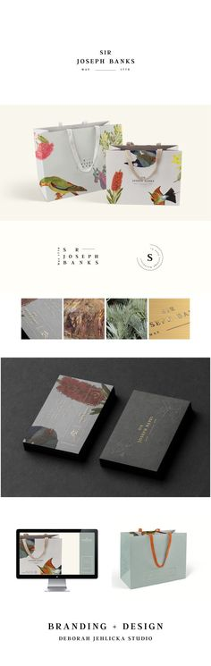 Australian brand design. Featuring botanicals, gold foil and embossing. Packaging, logo, signage and website design. Inspired by the colourful and eclectic Australian history . By Deborah Jehlicka Studio