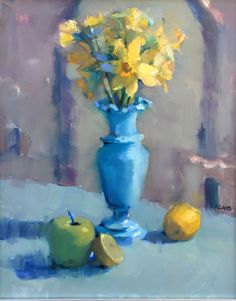 Dreaming of Daffodils by Trisha Adams Oil ~ 20 x 16