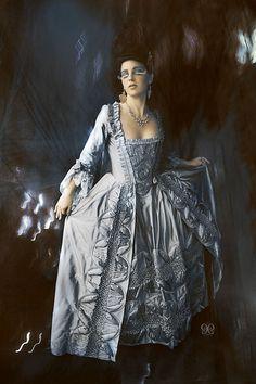Custom Marie Antoinette Rococo Wedding Gown von RachelKerbyCouture
