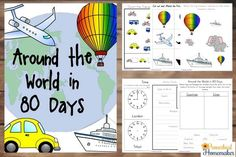 Around the World in 80 Days Unit Study with craft project and FREE printable!