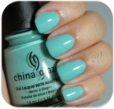 China Glaze, For Audrey....this is one of the colors I like to pull out for summer! it's as close to Tiffany Blue as you can get