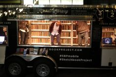 The mobile library of The Sketchbook Project - a global art project of handmade #books