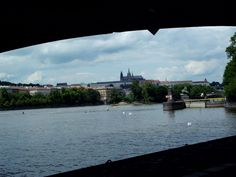 Prague's castle from Naplavka