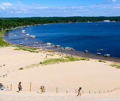 America S Best Little Beach Towns Silver Lake Sand Dunes Area Michigan
