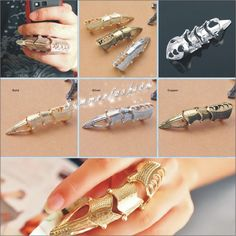 Punk Full Finger Joint Armor Knuckle Huge Robot Metal Armoring Ring Dual Ring