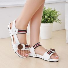 22 Fantastic Womens Sandals And Flip Flops Womens Sandals Grey Flats White Sandals, Flat Sandals, Shoes Sandals, Flats, Women Sandals, Sandals 2014, Shoes For School, Luxury Shoes, Summer Shoes