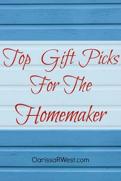 """These gift ideas are perfect for anyone who seeks to """"make a house a home"""" (homemaker). So, if you are shopping for yourself or for another lovely lady in your life, I hope these gift ideas will be a blessing to you. These are practical and useful items I either own or have on my wish list to make life easier."""