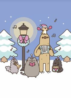 christmas music with pusheen