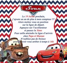 solovely family soan 3 ans invitation thme cars