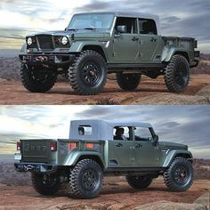 Jeep Crew Chief 715 This IS the end all be all of Jesse Abbott trucks if I could have exactly what I Pickup Trucks, Jeep Pickup, Jeep 4x4, Jeep Truck, Lifted Trucks, Cool Jeeps, Cool Trucks, Cool Cars, Jeep Willys